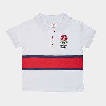 England RFU 2019/20 Infant Stripe Polo Shirt