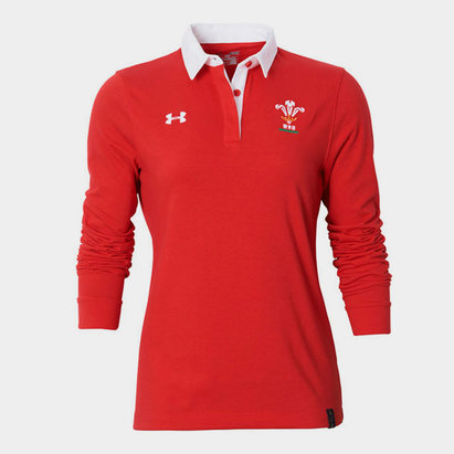 Under Armour Wales WRU 2016/17 Ladies L/S Rugby Polo Shirt
