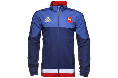 adidas France 2015/16 Players Rugby Presentation Jacket