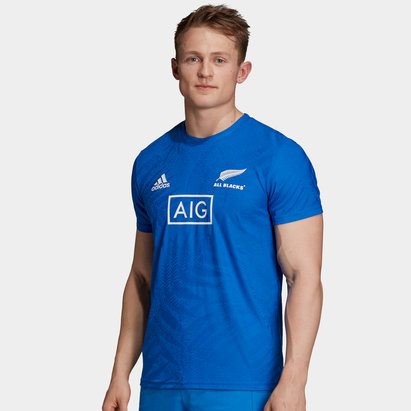 adidas New Zealand All Blacks 2019 Performance Players Rugby T-Shirt