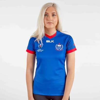BLK Samoa RWC 2019 Home S/S Ladies Replica Rugby Shirt