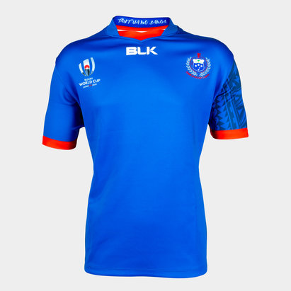 BLK Samoa RWC 2019 Home S/S Kids Replica Rugby Shirt