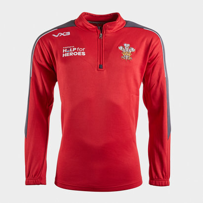 VX3 Help for Heroes Wales 2019/20 Half Zip Rugby Sweat