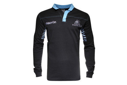 Macron Glasgow Warriors 2015 Home Cotton L/S Replica Rugby Shirt