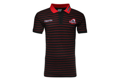 Macron Edinburgh 2015/16 Striped Cotton Rugby Polo Shirt