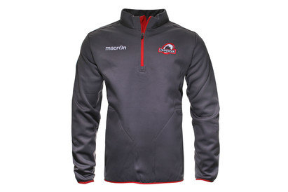 Macron Edinburgh 2015/16 Players 1/4 Zip Rugby Fleece