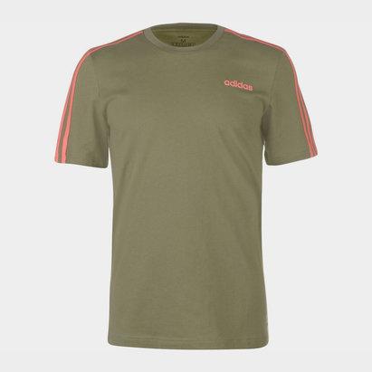 adidas 3 Stripe T Shirt Mens