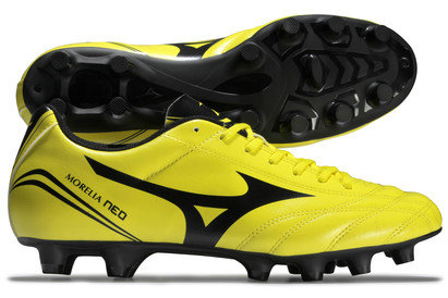 Mizuno Morelia Neo CL Kids MD FG Football Boots Bolt/Black