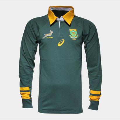 Asics South Africa Springboks 2017/18 L/S Supporters Rugby Shirt