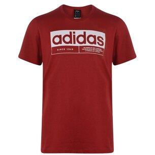adidas New Box Linea T Shirt Mens