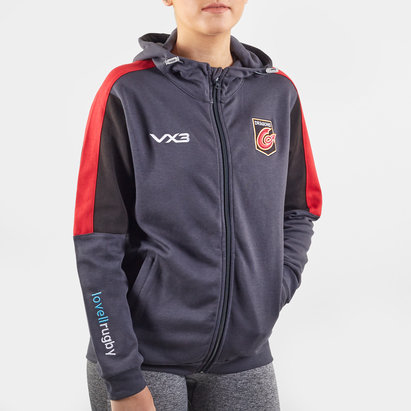 VX3 Dragons 2019/20 Ladies Full Zip Hooded Rugby Sweat