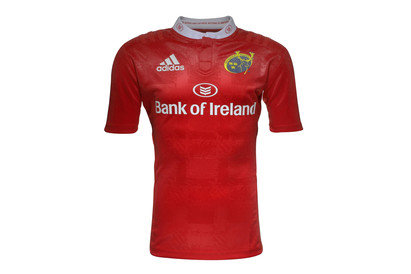 adidas Munster 2015/16 Home Kids S/S Replica Rugby Shirt