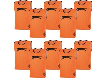 Slazenger 10 Pack Mesh Hi Viz Training Bibs Mens