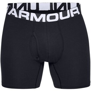 Under Armour Cotton 3 Pack Boxer Shorts Mens