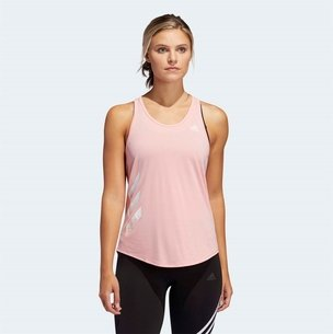 adidas Womens Run It 3 Stripes Tank Top