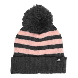 adidas Fleece Three Stripe Bobble Hat Ladies