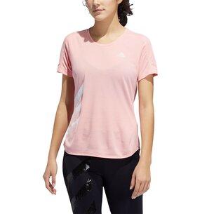 adidas Run It Short Sleeve T Shirt Ladies