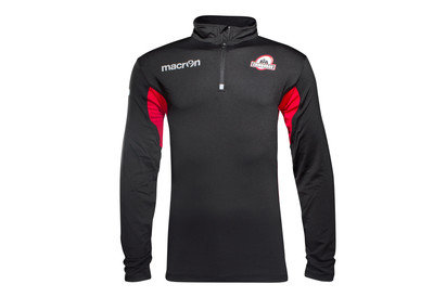 Macron Edinburgh 2016/17 Players 1/4 Zip Rugby Fleece