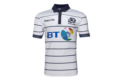 Macron Scotland 2016/17 Alternate Kids S/S Replica Rugby Shirt