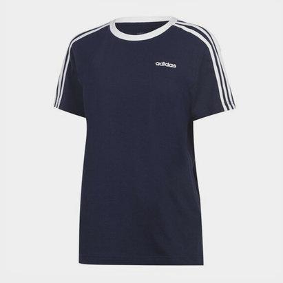 adidas Essentials 3 Stripe T-Shirt Ladies