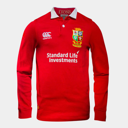 Canterbury British & Irish Lions 2017 Kids Match Day Classic L/S Rugby Shirt