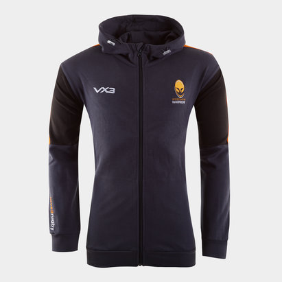 VX3 Worcester Warriors 2019/20 Ladies Full Zip Hooded Rugby Sweat