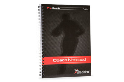Precision Training A5 Rugby Union Pro-Coach Notepad