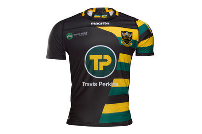 Macron Northampton Saints 2016/17 Kids European S/S Replica Rugby Shirt