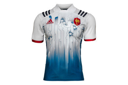 adidas France 7s 2017/18 Home S/S Rugby Shirt