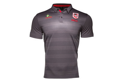 St George Illawarra Dragons NRL 2017 Players Hooped Rugby Polo Shirt