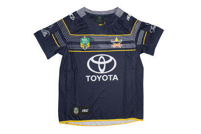 North Queensland Cowboys Kids Home NRL 2017 SS Replica Rugby Shirt