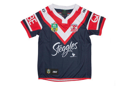 Sydney Roosters NRL 2017 Kids Home SS Rugby Shirt