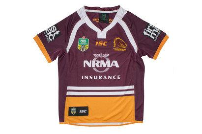 Brisbane Broncos NRL 2017 Kids Home SS Rugby Shirt