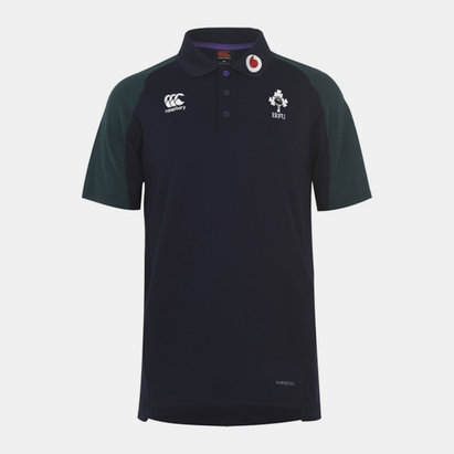 Canterbury Ireland Rugby Pique Polo Shirt Mens