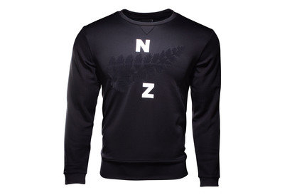 adidas New Zealand All Blacks 2017/18 Collegiate Crew Rugby Sweatshirt