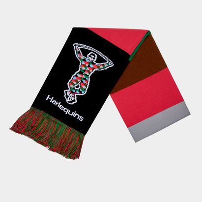 Harlequins Tritone Supporters Rugby Scarf
