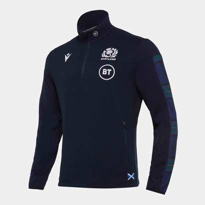 Macron Scotland 2019/20 1/4 Zip Polar Rugby Fleece