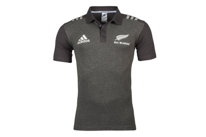 Image of New Zealand All Blacks 2017/18 Players Rugby Polo Shirt