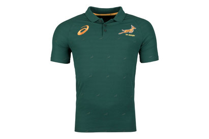Asics South Africa Springboks 2017/18 Performance Rugby Polo Shirt