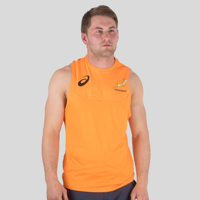 Asics South Africa Springboks 2017/18 Players Rugby Training Singlet
