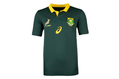 Asics South Africa Springboks 2017/18 Kids Home S/S Rugby Shirt