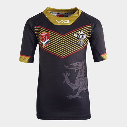 VX3 Wales Rugby League 2019/20 Kids Alternate S/S Shirt