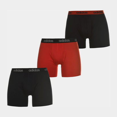 adidas 3 Pack Performance Boxer Shorts Mens