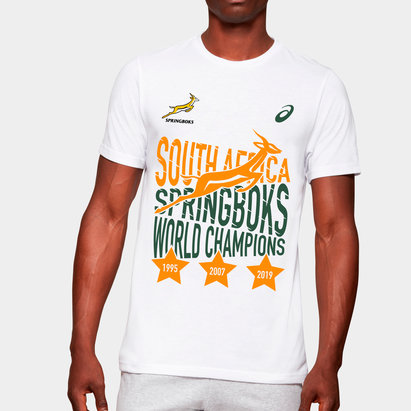 Asics South Africa Springboks World Champions Rugby T-Shirt