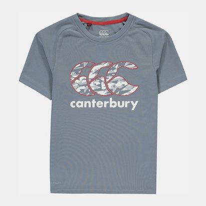 Canterbury Vapodri Poly Logo T Shirt Junior Boys