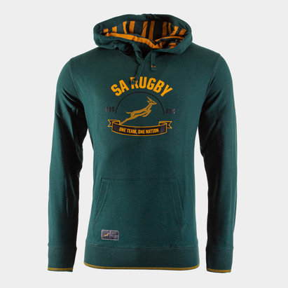 Asics South Africa Springboks 2017/18 Hooded Rugby Sweat