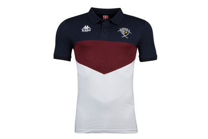 Kappa Union Bordeaux Begles 2017/18 Players Rugby Polo Shirt