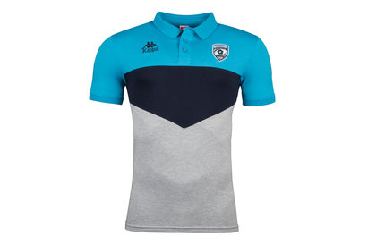 Kappa Montpellier 2017/18 Players Rugby Polo Shirt