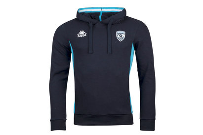 Kappa Montpellier 2017/18 Players Hooded Rugby Sweat