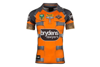 Wests Tigers 2017 NRL Rocket Raccoon Marvel SS Ltd Edition Rugby Shirt